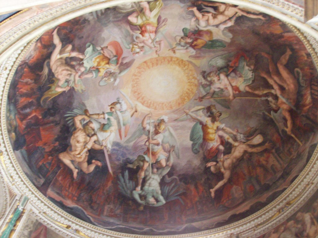 Ceiling by the Sistine Chapel