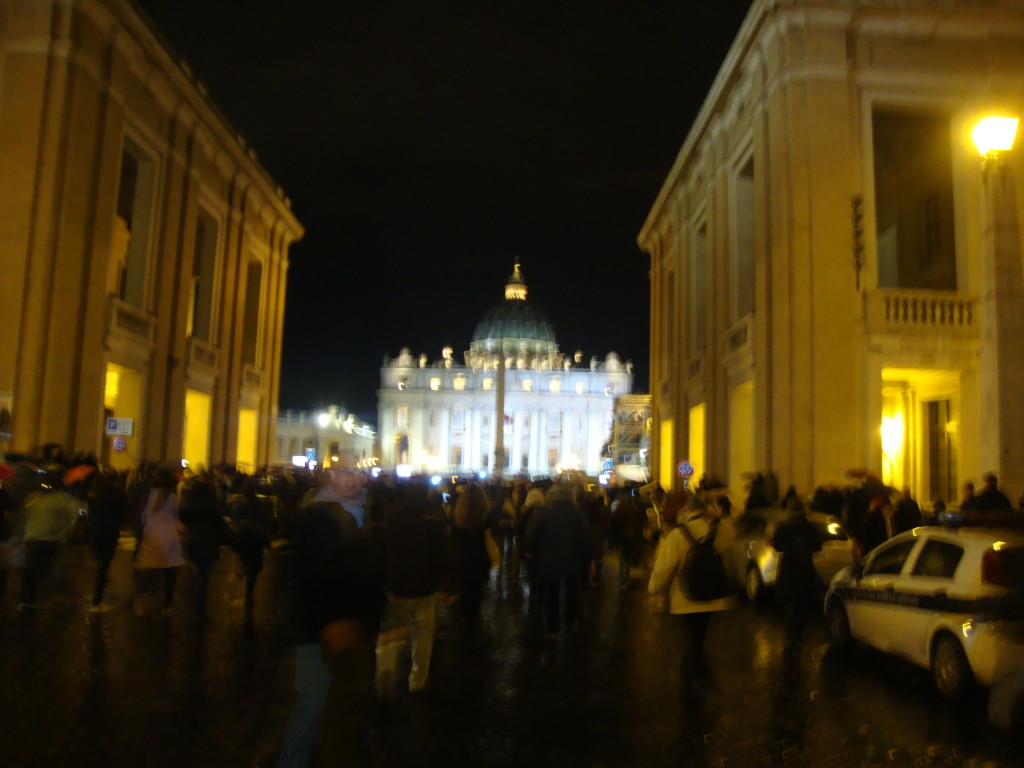 On the way to the Vatican